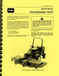 Toro Groundsmaster 455-D 455D Diesel Lawn Mower SERVICE MANUAL