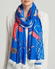 Kate Spade NEW YORK blue fun warm weather style Beach Blanket Scarf