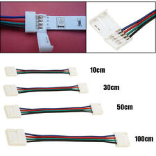 10/30/50/100CM 10MM 4 Pin RGB Connector Cable Wire Extension Cord For SMD5050 LE