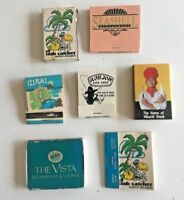 VINTAGE MATCHBOOK LOT ~ 7 Hawaii, The Vista, Seashell, ILIKAI, Ron Jon- Lot 208