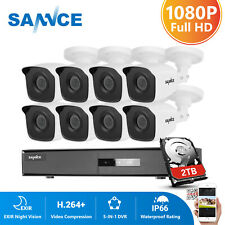 SANNCE 4CH 8CH 1080P HDMI DVR 2MP Outdoor CCTV IR Security Camera System H.264+