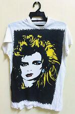 Vintage 80s Kim Wilde Rock Punk New Wave Disco Tour Concert T-Shirt Fifth Column
