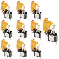 10Pc 12V 20A Yellow Cover LED Light Rocker Toggle Switch SPST ON/OFF Car
