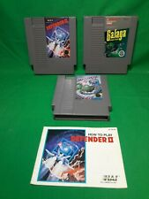 Nintendo 3 game lot Galaga, Defender 2, millipede