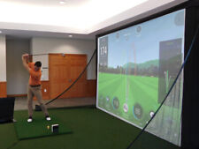 MicroBay™ Home Golf Simulator Hitting Screen by AllSportSystems
