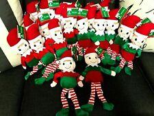Lot 6 Christmas Elf Plush Toys 3 Boys and 3 Girls Bundle dolls NEW