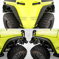 07-17 Jeep Wrangler JK Stubby Rock Crawler Metal Front+Rear Fender Flares 4pcs