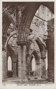 Nr CHEPSTOW Tintern Abbey Interior No 4 RP # 9392 by Ernest T Bush Unused