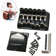 6 String Fixed Headless Guitar Bridge Tailpiece Accessory Roll Ball Saddle New