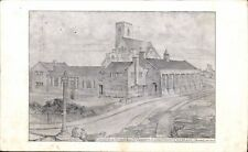 Longsight, Oldham. St Anne's Church & Schools Temple Moore Architect's Drawing.