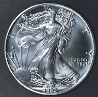 1990 1 oz AMERICAN SILVER EAGLE BRILLIANT UNCIRCULATED ASE  SKU1990B