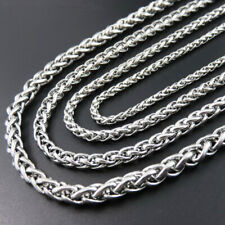 2020 Men 3/5/6/8mm 20-30 inch Silver Link Chain Necklaces Stainless Steel USA