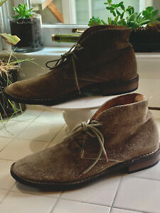 Fiorentini Baker Light Green/Brown Suede Ankle Chukka Boots Sz 10
