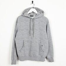 Vintage Women's FILA Graphic Logo Hoodie Sweatshirt Grey   Medium M
