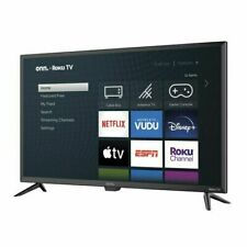 "onn. 32"" Class 720P HD LED Roku Smart TV- No Sound"