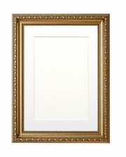 Ornate Swept Picture Frame Photo Frame Poster Frame with Bespoke Mount  Gold