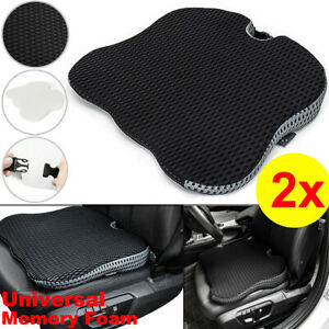 2PCS Memory Foam Thick Car Front Seat Cushion Office Chair Wedge Breathable Mat