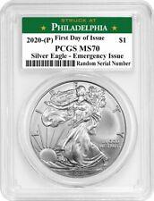 2020 (P) $1 Silver American Eagle PCGS MS70 FDOI Emergency Production