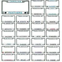 NFL Teams -  Chrome Metal License Plate Frame