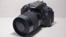 LENTE 500mm = 750mm SU CANON 650D digitale per la fauna selvatica Photography 1200D 5D 6D EOS