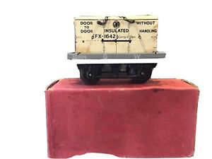 vintage hornby o gauge Boxed Flat Truck With GWR Container.