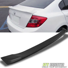 2012-2015 Honda Civic 4 Door 4D 4Dr Sedan Rear Deck Trunk Lid Spoiler Matt BLACK