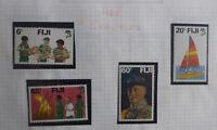 FIJI 1982 FIJI SCOUTING SET 4 MINT STAMPS