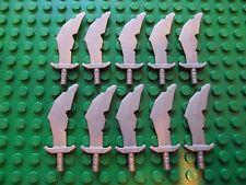 Lego Minifig ~ Lot Of 10 Swords Weapons Scimitar Battle King Troll Ninja Dwarf