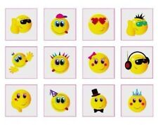 24 Temporary Smiley tatoos pack of 12 diferrent individual tatoos 1-7 Themes Avl