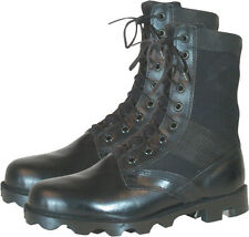 """Leather Military Jungle Boots 8"""" - Vietnam Style Jungle Boots - Panama Sole"""