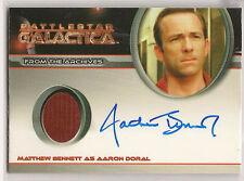 Battlestar Galactica Season 4 Costume Autograph Matthew Bennett Aaron Doral