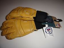 Hestra Alpine Pro Leather Fall Line Unisex Ski Snowboard Gloves Tan Large 9