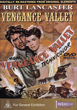 VENGANCE VALLEY Burt Lancaster DVD PAL All Zone NEW