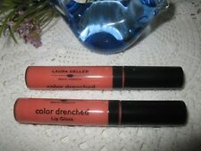 Laura Geller Beauty Color Drenched Lip Gloss~ MELON INFUSION - Lot of 2