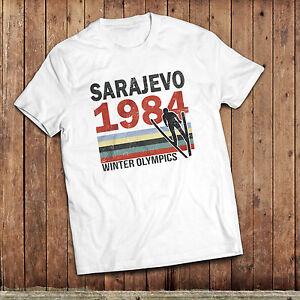 Sarajevo 84 T-Shirt, 1984 winter Olympic games, retro sport tee, vintage sport