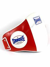 Sandee Muay Thai Belly Pad - Red/White belly Protector