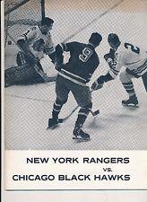 Chicago Black Hawks Beat New York Rangers 10/17/1962 Program + Tickets B Hull