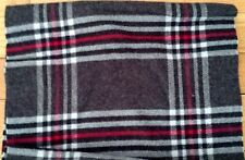 Scarf Croft Barrow Scarves Men Woman Plaid black red Fringe 100% Acrylic Winter