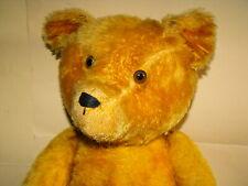 großer alter Teddy Teddybär Bär so 50er Jahre gegliedert 5 Krallen Bestickung