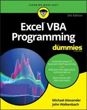 Excel Vba Programming for Dummies, Paperback by Alexander, Michael; Walkenbac...