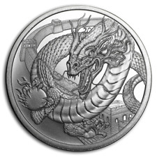 1~OZ .999 SILVER BU GEM ~ CHINESE  DRAGON ~ WORLD of DRAGONS ~ #3 SERIES~ $9.99