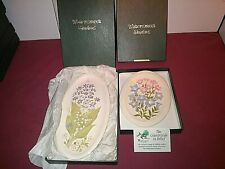 WATERSMEET STUDIOS 2 OVAL WALL PLAQUES, FLOWERS, IN BOX!