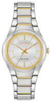 Citizen Eco-Drive Women's Paradigm Silver Dial Two-Tone 29mm Watch FE2094-51A