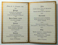 1880 Antique Menu Hotel CONTINENTAL Restaurant France Rue Drouot France