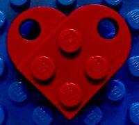 NEW Lego DARK RED HEART - Necklace Wedding Minifigure LOVE Jewelry