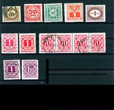 Österreich Portomarken_1894-1949 Mi.Nr. 16-248 Ziffern