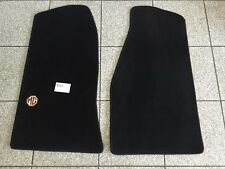Floor mat carpet set MGB 62-67, black with MG logo
