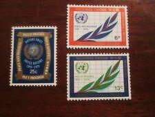 Scott# 209-211, United Nations, 1970, 6,13 & 25 cents, 25th Anniversary, MVLH