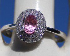 Pink Spinel .58ct,White Gold Ring,Natural,Oval,Natural,Untreated,Tajikistan,