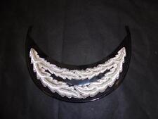 British Police Senior Officer's Peak for Peaked Cap Hat, Commissioner Chief Cons